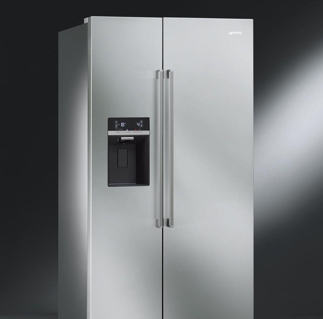 great frigo smeg elite sbsxed with frigo smeg rouge. Black Bedroom Furniture Sets. Home Design Ideas