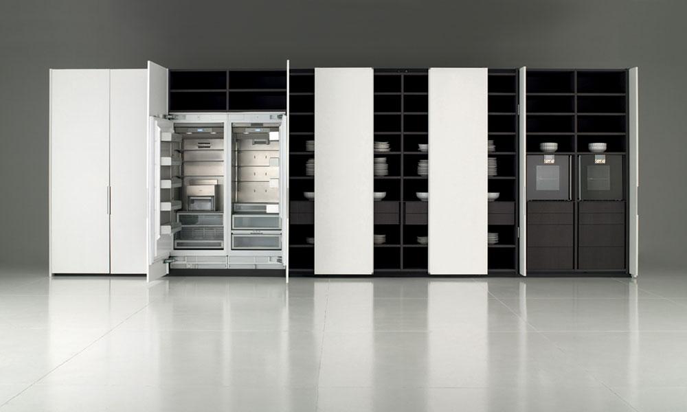 Une cuisine bien rang e cuisine architecturecuisine architecture - Cuisine porte coulissante ...